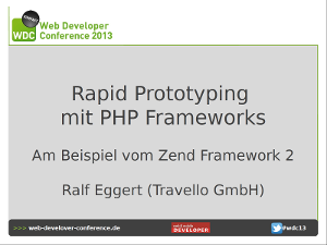 Rapid Prototyping mit PHP Frameworks